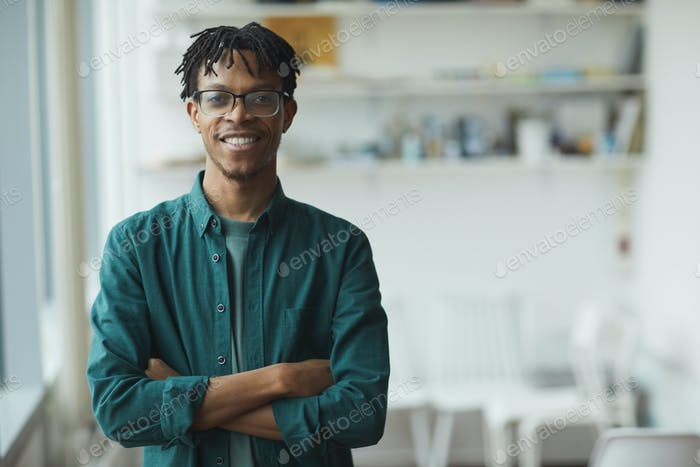 African young businessman in casual clothing