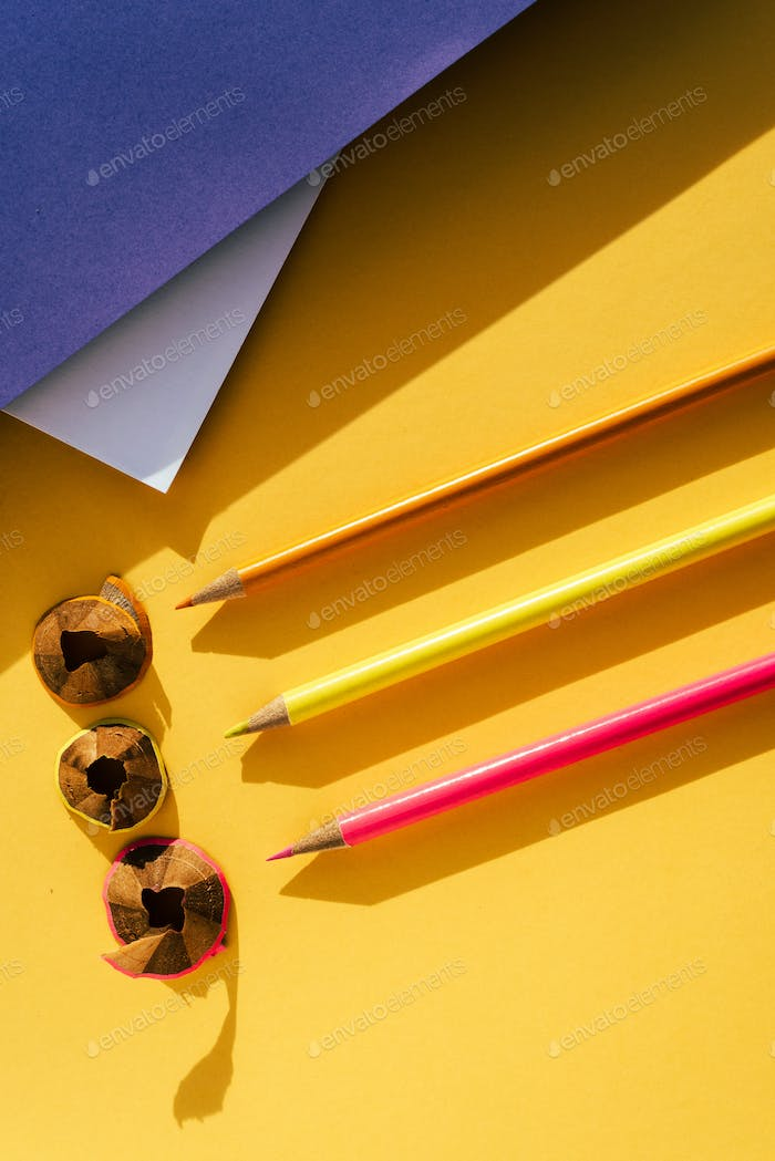 Back to school: Pencil and shavings