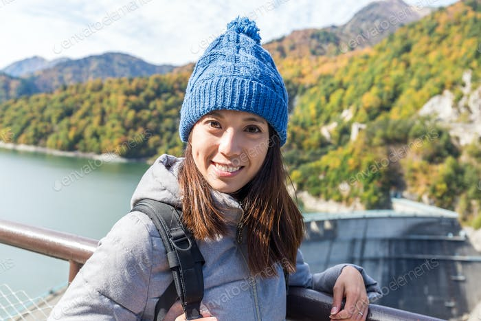 Woman travel in Tateyame of Japan