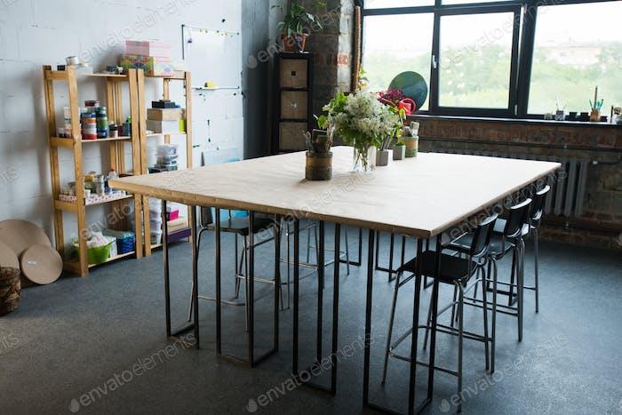 Table in Design Apartment