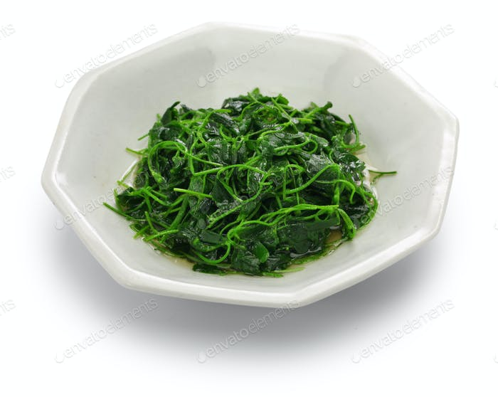 chinese white wine stir fried with toothed bur clover