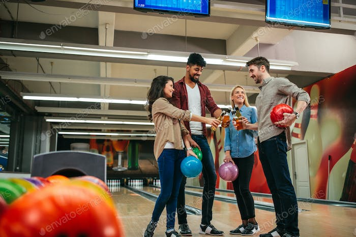 Bowling is their favorite weekend activity