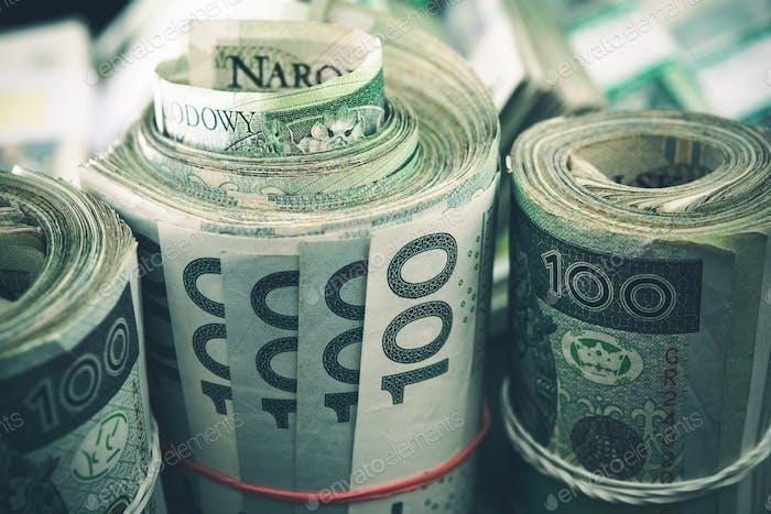 Polish Zloty Cash Rolls