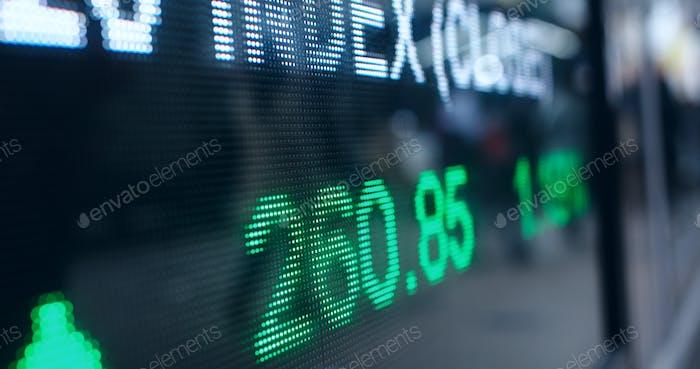 Los precios del mercado de valores en la ciudad