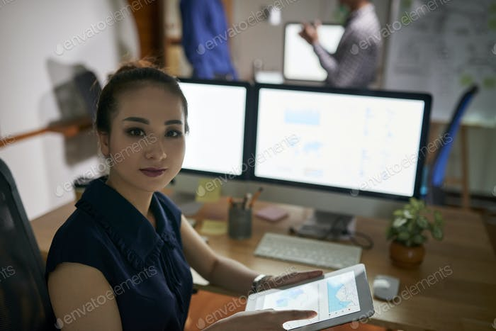 Businesswoman busy with work