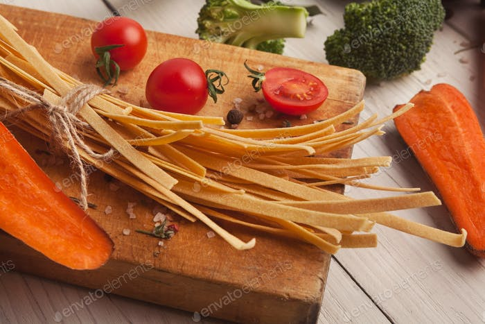Cooking handmade pasta background