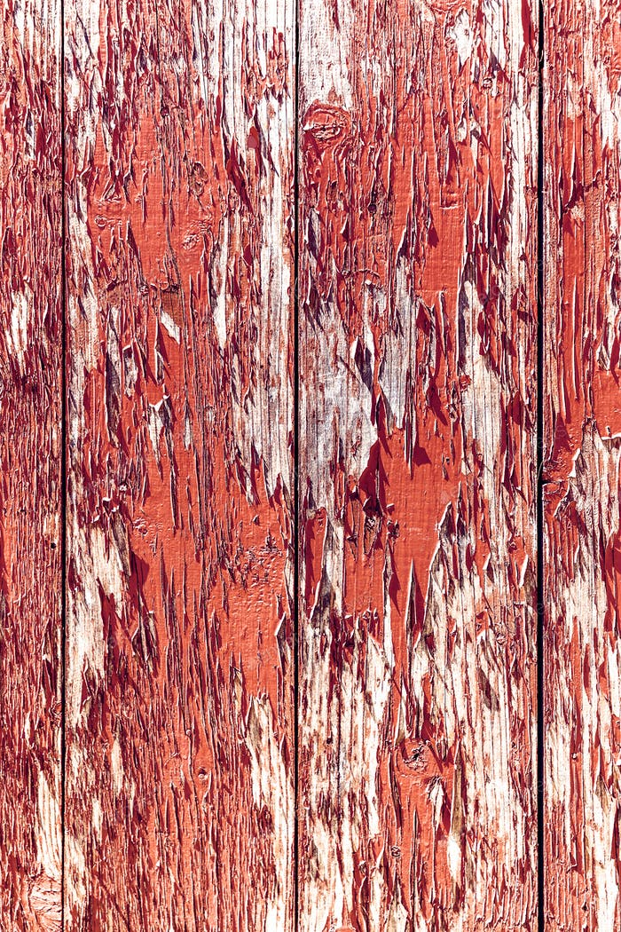 Grunge red wood panels