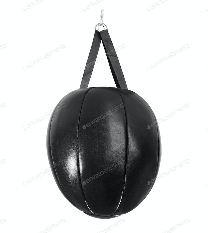 leather black punching bag
