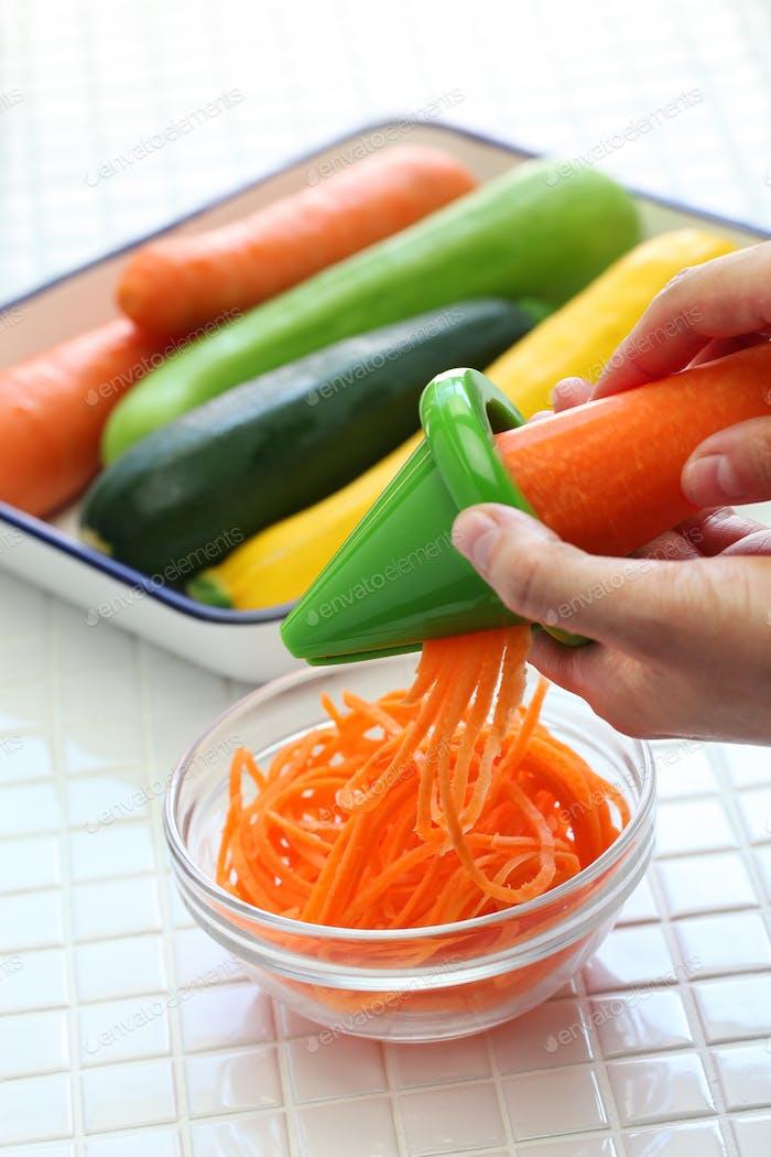 healthy diet vegetable noodles salad