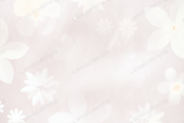 White floral background design resource