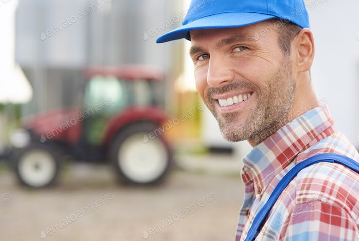 Farmer satisfied with his work