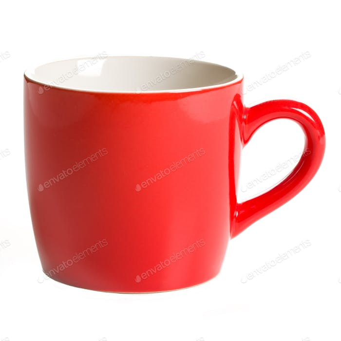 roter Kaffeetasse