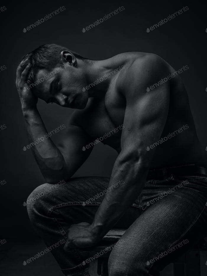 Portrait of a young caucasian male athlete