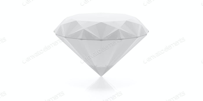 Diamond isolated on white. 3d illustration
