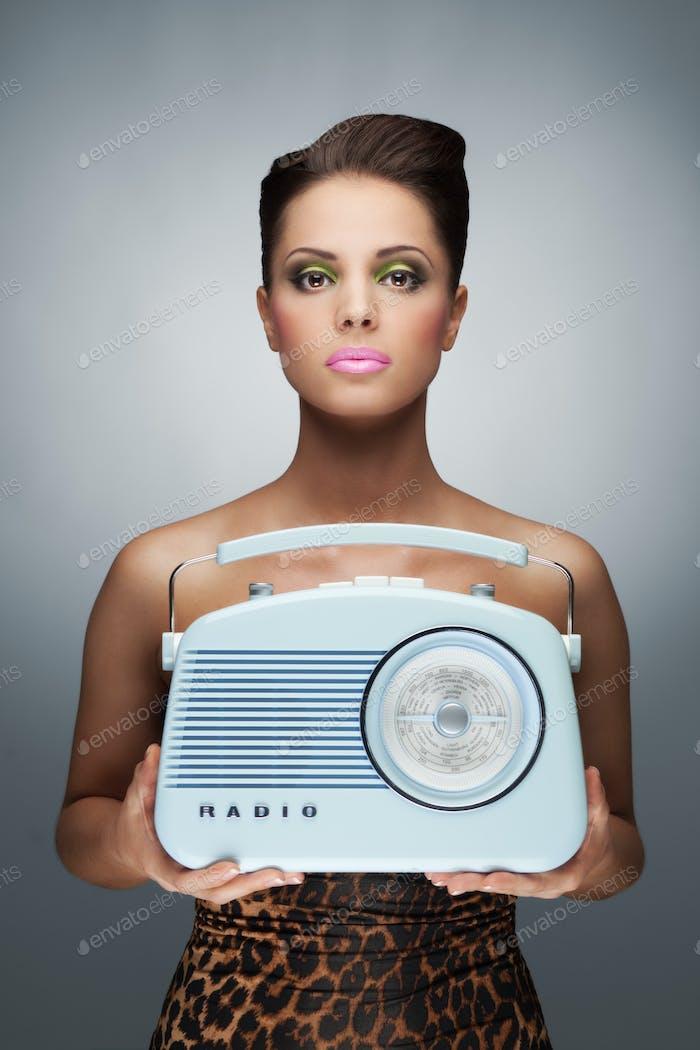The radio lantern.