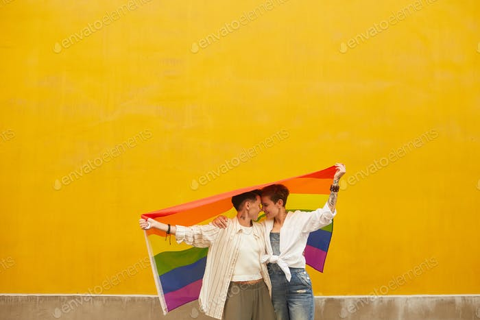 Lesbians protecting their love