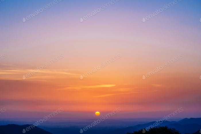 beautiful twilight sunrise scene