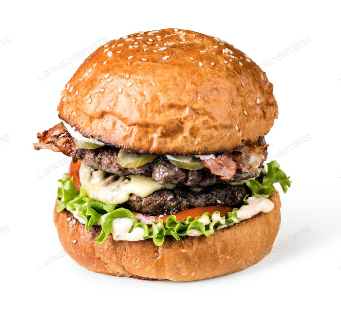 Thumbnail for Burger on a wooden board