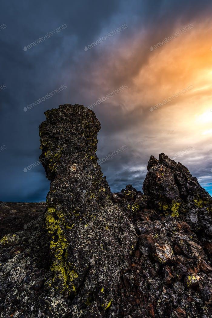 Lava-Säulen Krater des Mondes