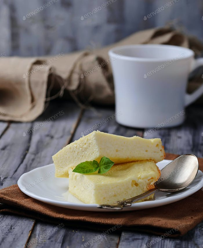 Sweet cottage cheese casserole