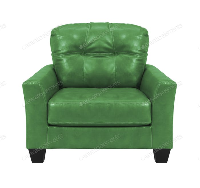 green chair isolated