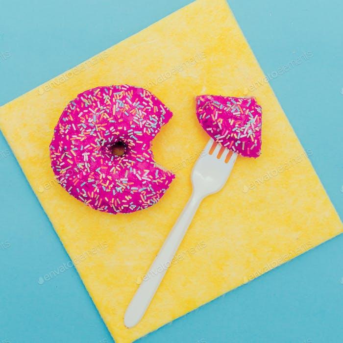 Creative fast food. Donut eat me