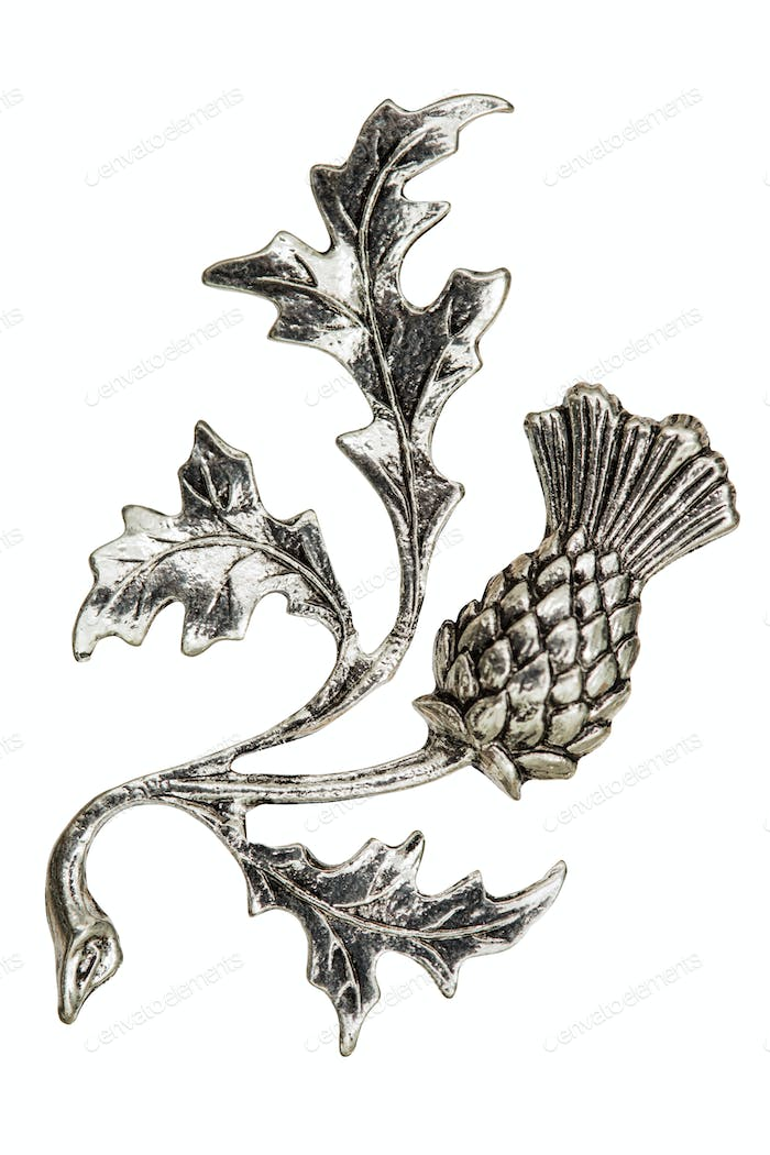 Filigree in the form of a thistle flower, decorative element for