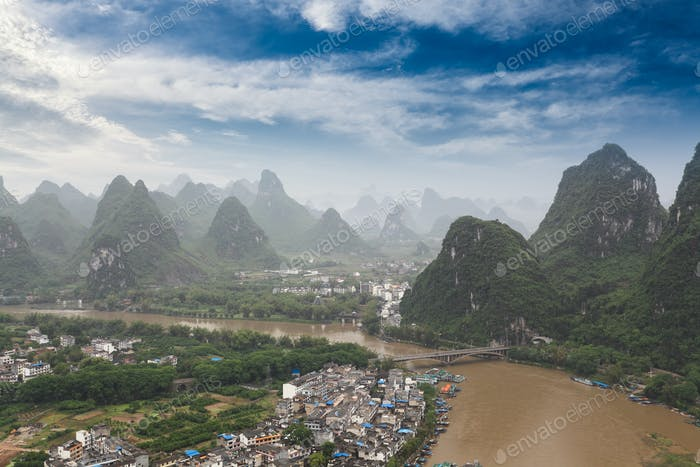beautiful scenery of yangshuo