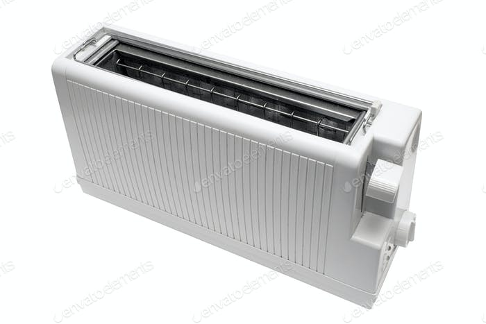 White Toaster with Clipping Path Isolated on a White Background