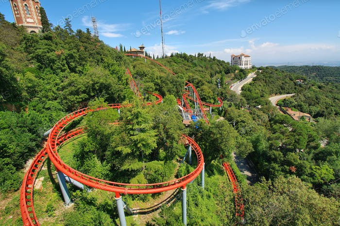 Red roller coaster i
