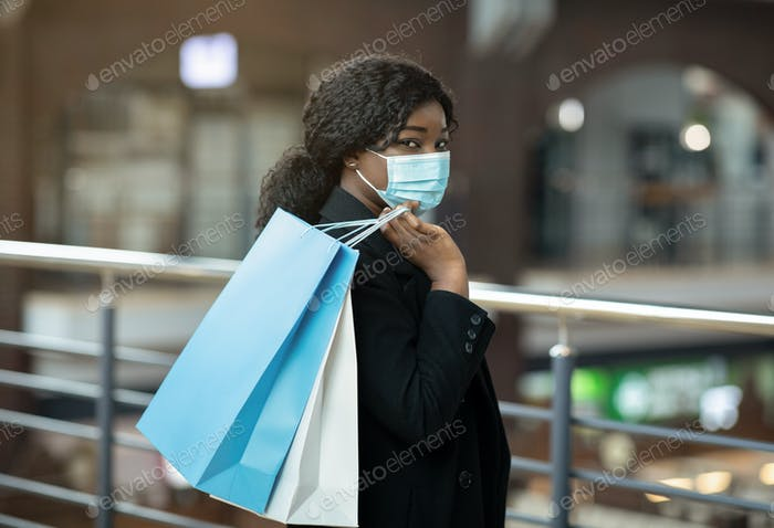 Sale and Black Friday during COVID-19 pandemic and social distancing