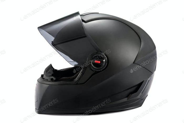 Black helmet Isolated
