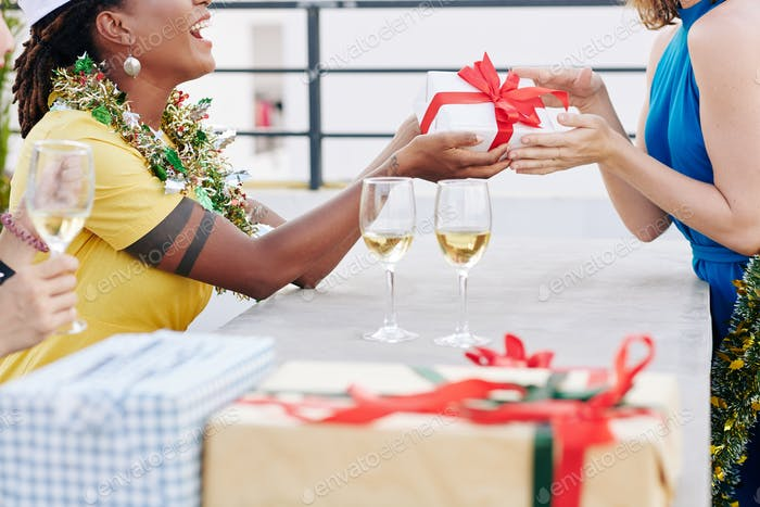 Exchanging Christmas presents
