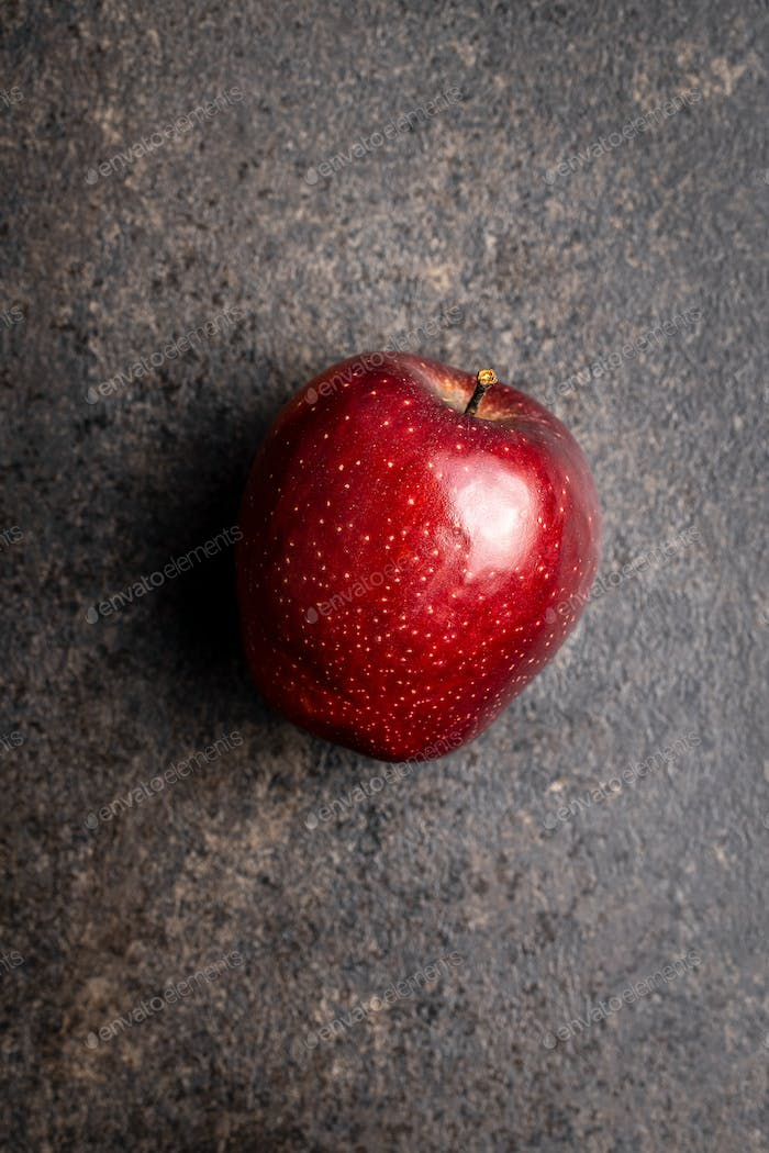 Ripe red apple.