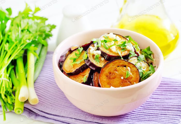 fried eggplants