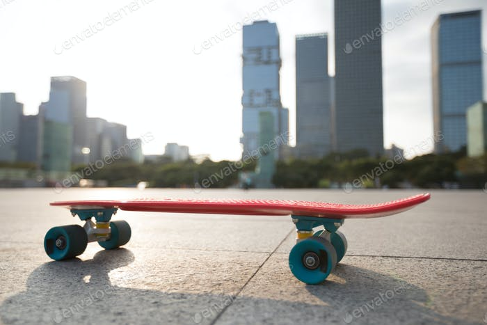 skateboard at city