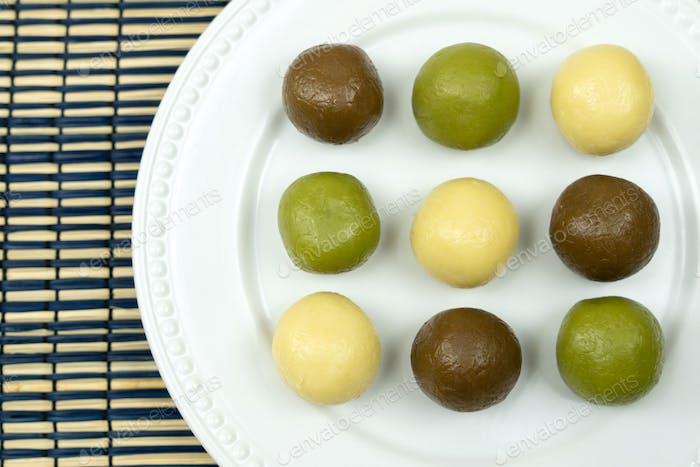 Homemade assorted flavor mung bean paste