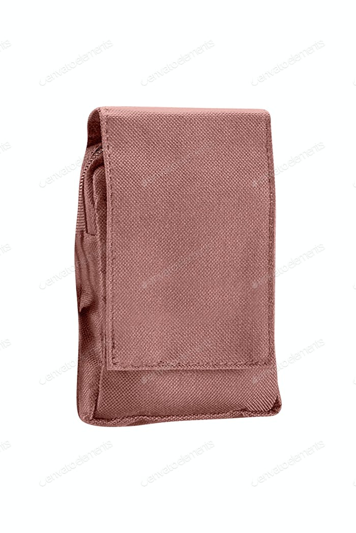 Military pouch on white background