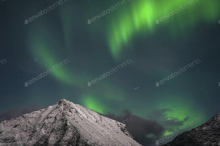 Die Nordlichter auf Lofoten in Norwegen