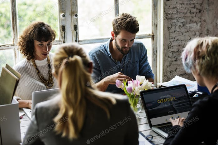 Business Colleagues Together Teamwork Working Office