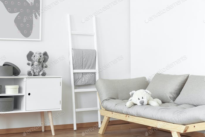 White and grey room