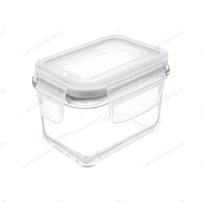 Kunststoff-Lebensmittelbox isoliert