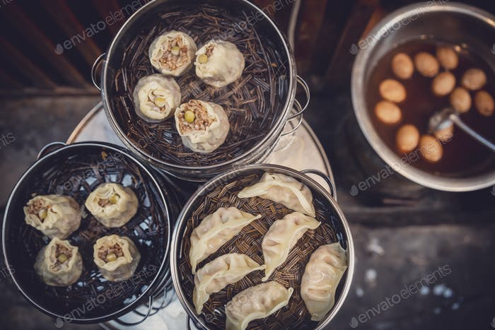 Köstliche traditionelle chinesische Knödel