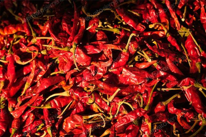 Rote würzige Chilischoten