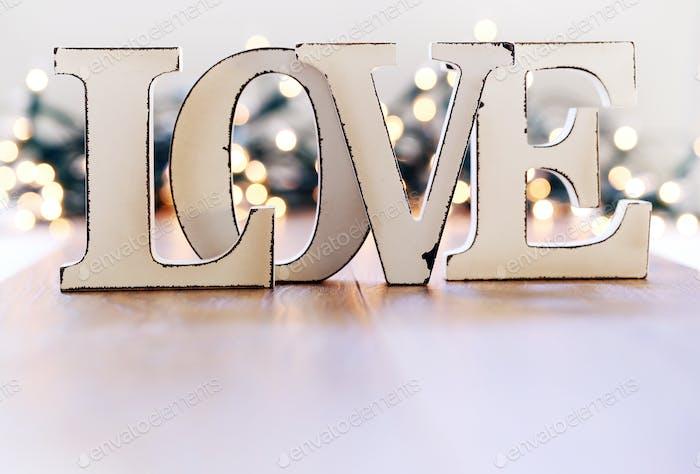 Liebe und Girlande