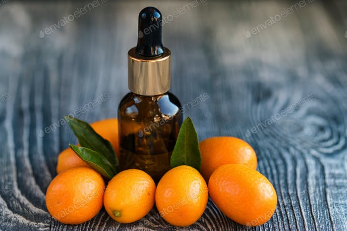 Dropper bottle of kumquat essential oil