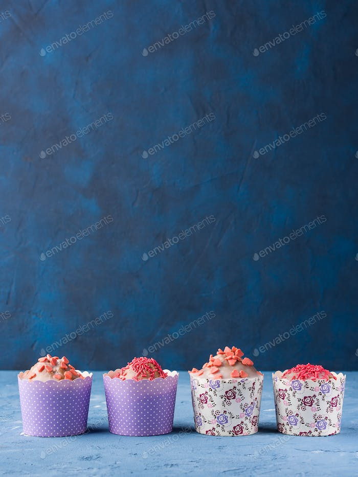 Cup cakes for Valentine's day