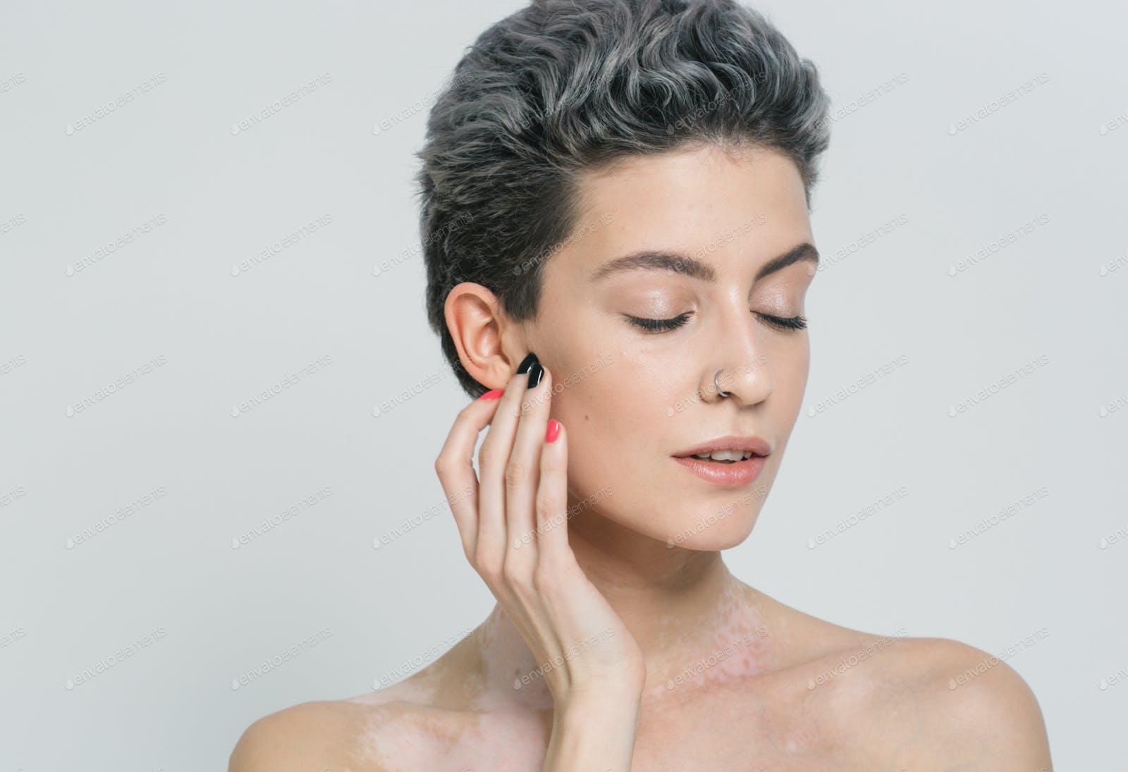 Vitiligo White Woman Beauty Portrait Photo By Kiraliffe On Envato Elements