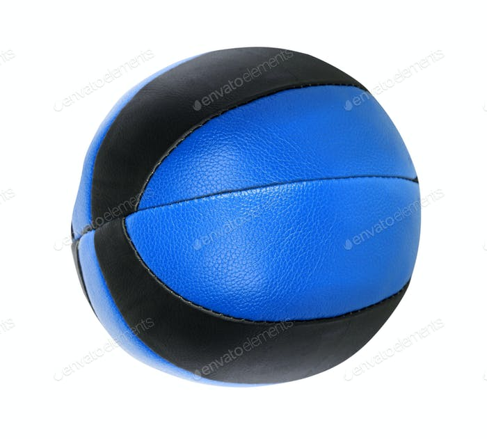 Blue ball isolated in white