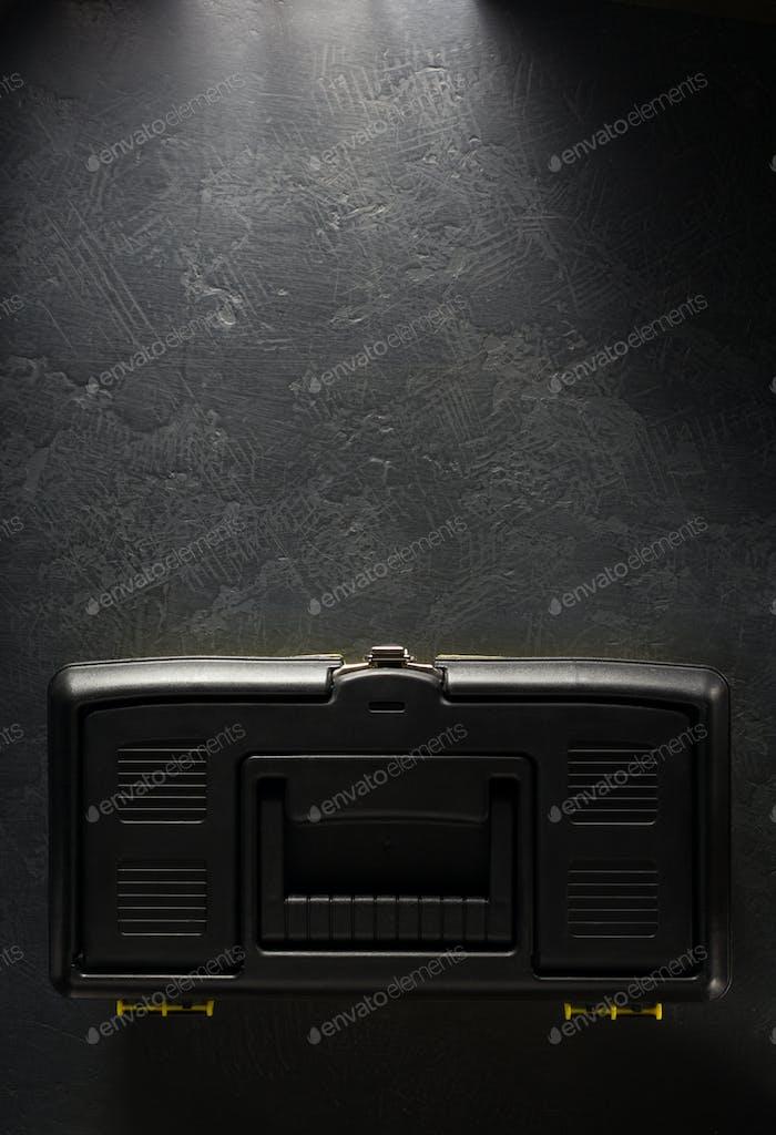 toolbox on black background